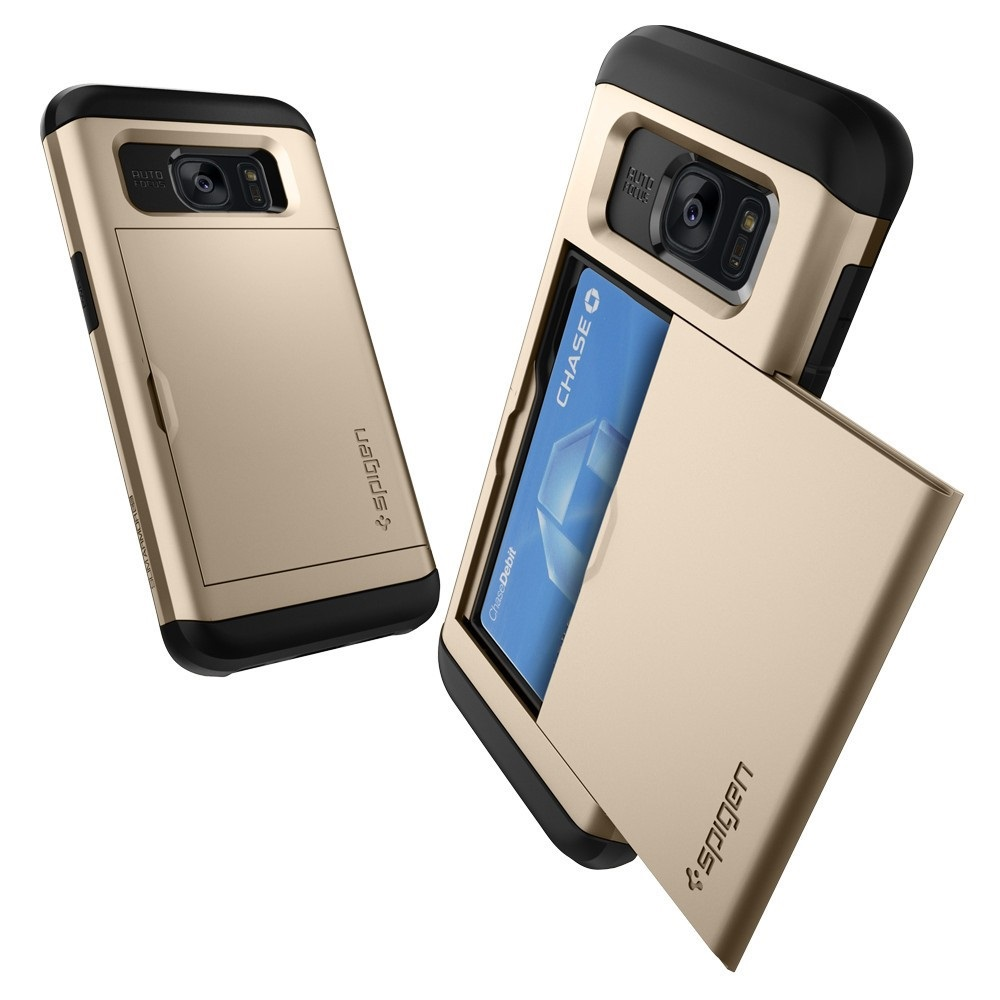 Five Brand New Mobile Back Covers Cases For Samsung Galaxy S7 Edge Spigen Carbon Case Slim Armor