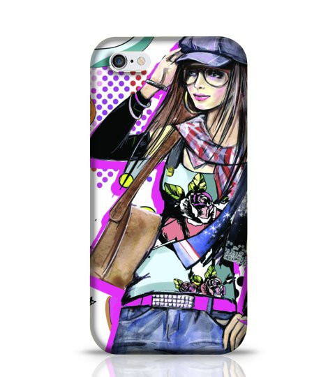 girl portrait phone case