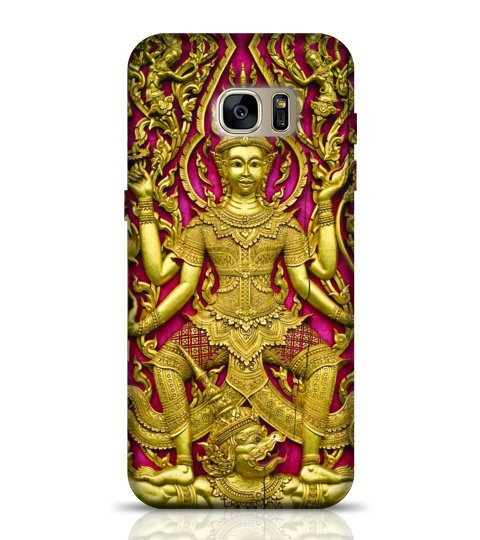 Buddha Carved Gold Paint phone case