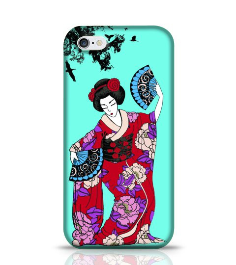 japanese lady phone case