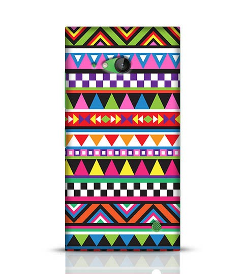 colourful pattern mobile back cover