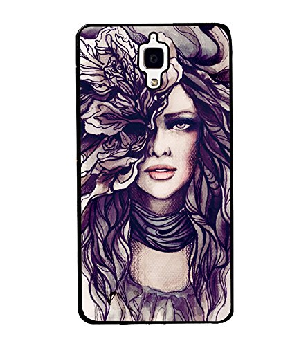 girl sketch mobile cover