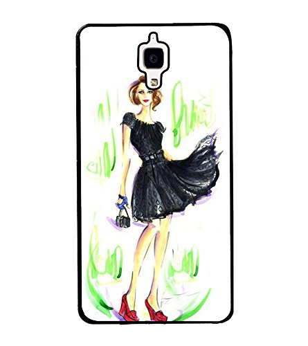 fashionable girl mobile cover