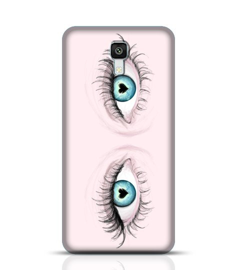 sketch of blue eyes phone case