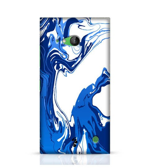 blue pattern phone case