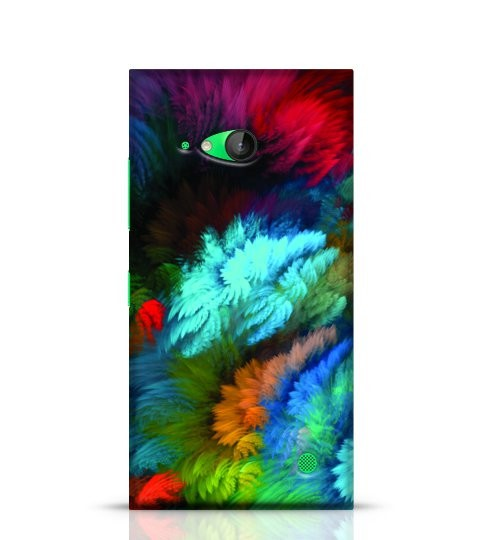 colourful feather phone case