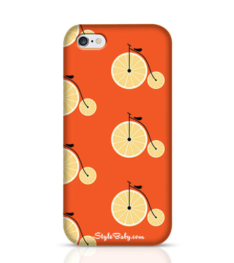 1 Bicycle with Lemon Wheel Phone Case